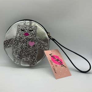 NWT! Luv by Betsey Johnson Robot Big Coin Purse